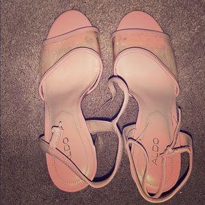 Aldo Pink Clear Heels size 8